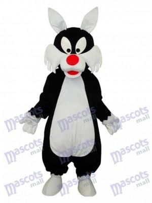 blanc Bouche Loup Mascotte Costume adulte Animal