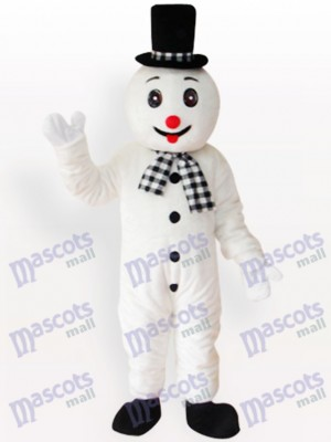 Costume de mascotte de Noël de Noël de bonhomme de neige