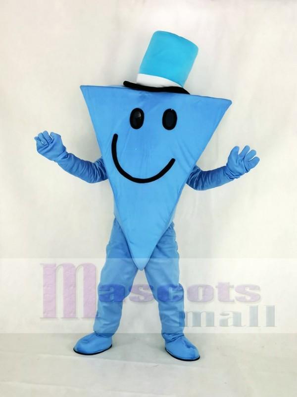 Monsieur Cool avec Bleu Chapeau Mascotte Costume Dessin animé