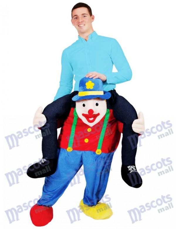 Portez-moi Illusion Costume Piggy Retour Cirque Clown Mascotte Costume Ride Sur Moi Déguisement Drôle
