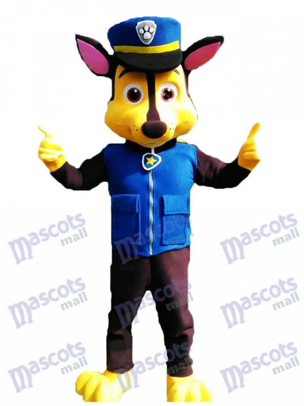 La Pat' Patrouill Paw Patrol Chase Costume de mascotte de chien Cosplay