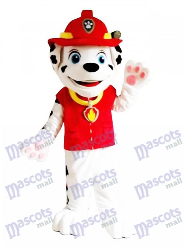 La Pat' Patrouill Marcus Paw Patrol Marshall Costume de mascotte adulte chien avec des vêtements rouges