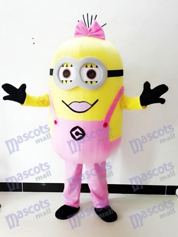Moi, moche et méchant Despicable Me Minions Costume de mascotte rose à deux yeux