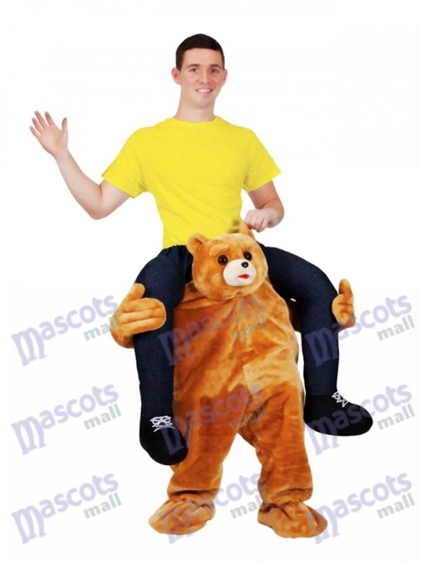 Ride on Me Ours en peluche Carry Me Ride Mascotte Costume Ours en peluche Stag Mascotte