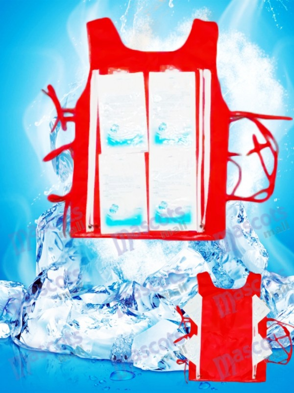 gilet de refroidissement Équipement de refroidissement Avec 8 Ice Bag Pour le costume de mascotte