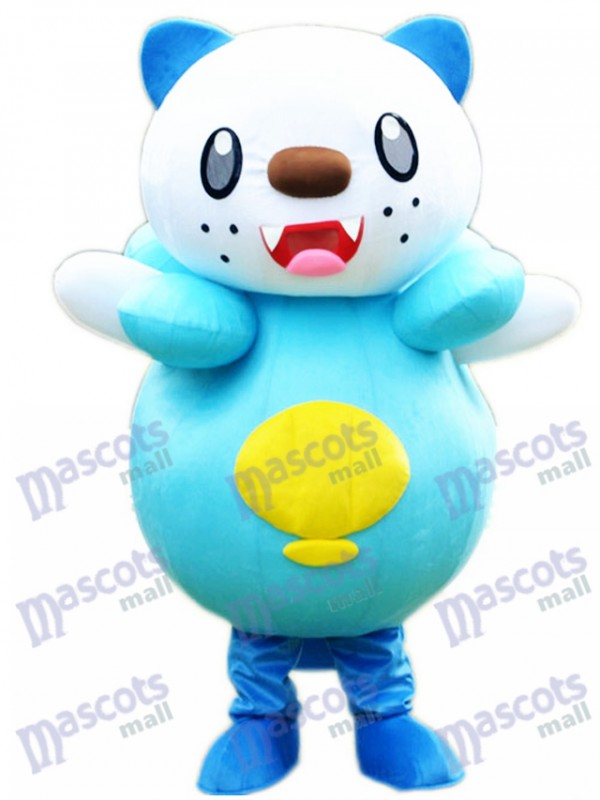 Costume de mascotte d'Oshawott Pokémon de Pokémon GO Monstre de poche mascotte de loutre de mer