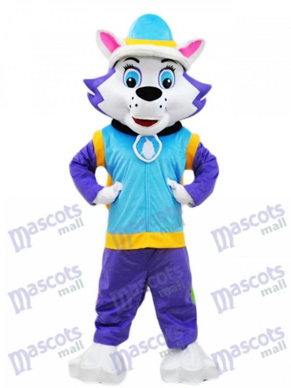 La Pat' Patrouill Chien husky Everest Mascot Paw Patrol Costume de dessin animé de chiot enneigé