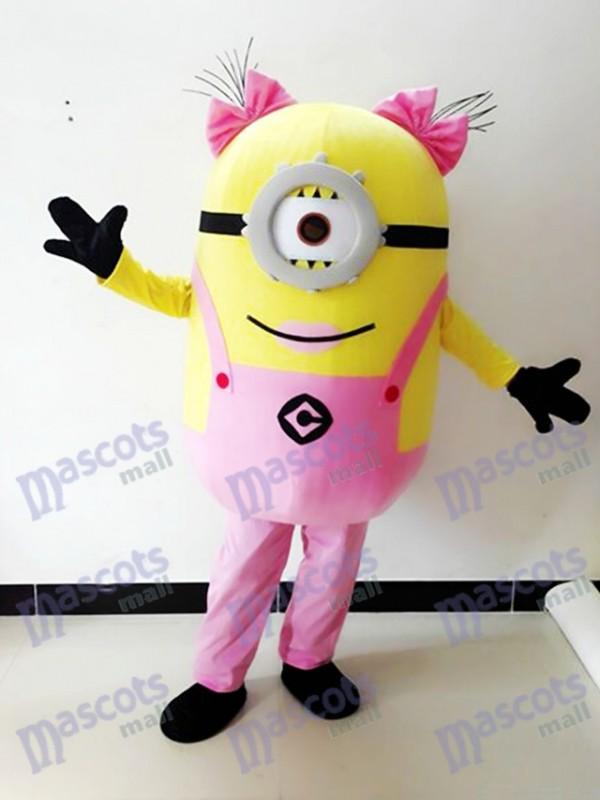 Moi, moche et méchant Despicable Me Minions Costume de mascotte un œil rose