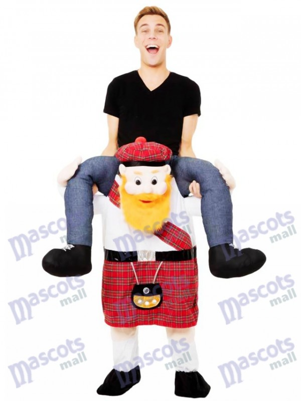 Scotsman Piggy Back Carry Me Costume mascotte écossaise monter sur Déguisements