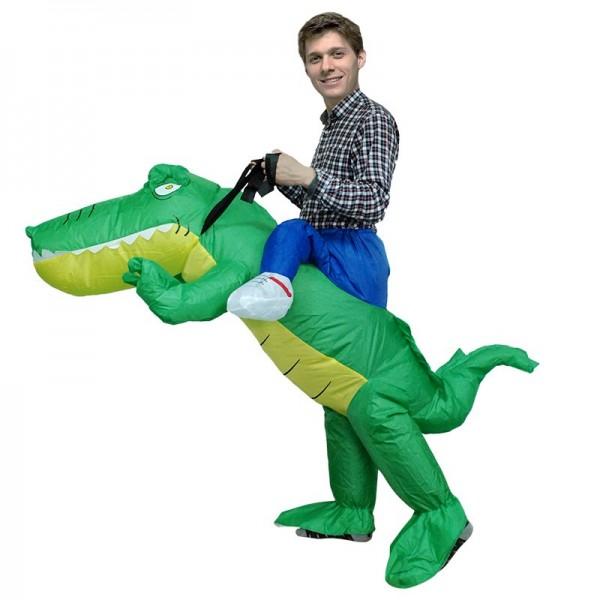 Crocodile Alligator Porter moi Balade sur Gonflable Costume Halloween Noël pour Adulte/enfant