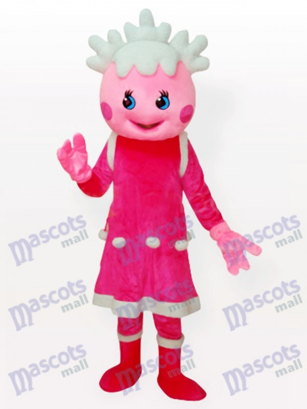 Costume de mascotte anime adulte rose neige