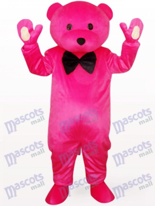 Chef ours en costume de mascotte animaux vêtements Rose