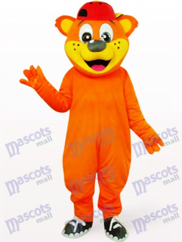 Costume de mascotte d'animal de Pipi d'ours jaune beau
