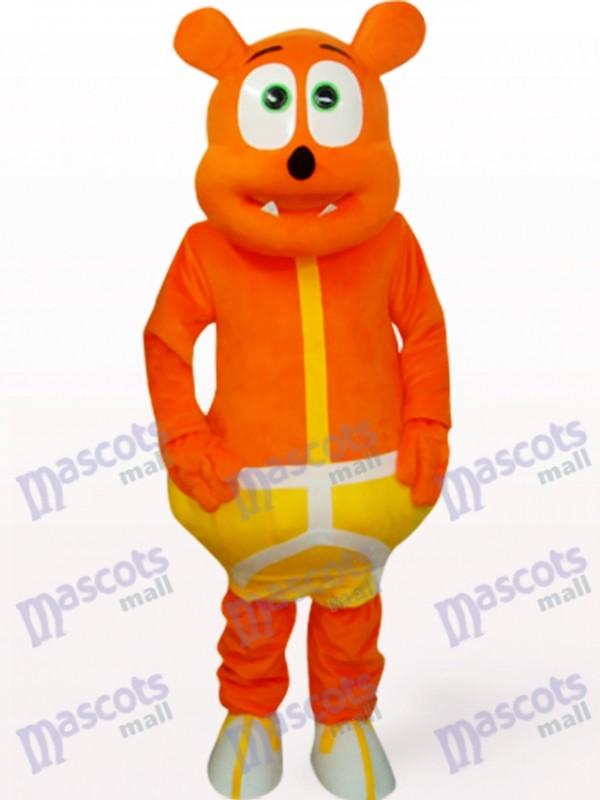 Déguisement mascotte animal monstre ours orange