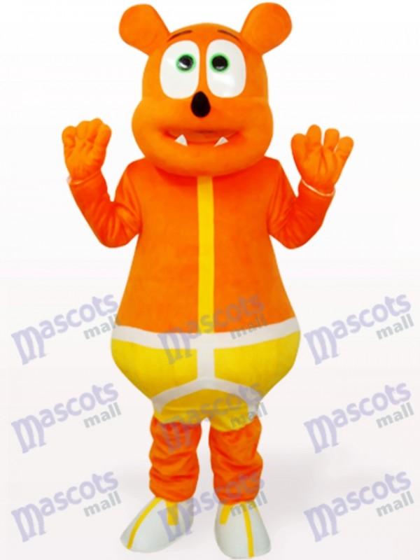 Costume de mascotte animal Monstre jaune ours