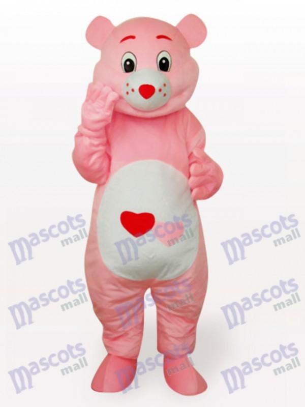 Costume drôle de mascotte d'anime de coeur rouge d'ours