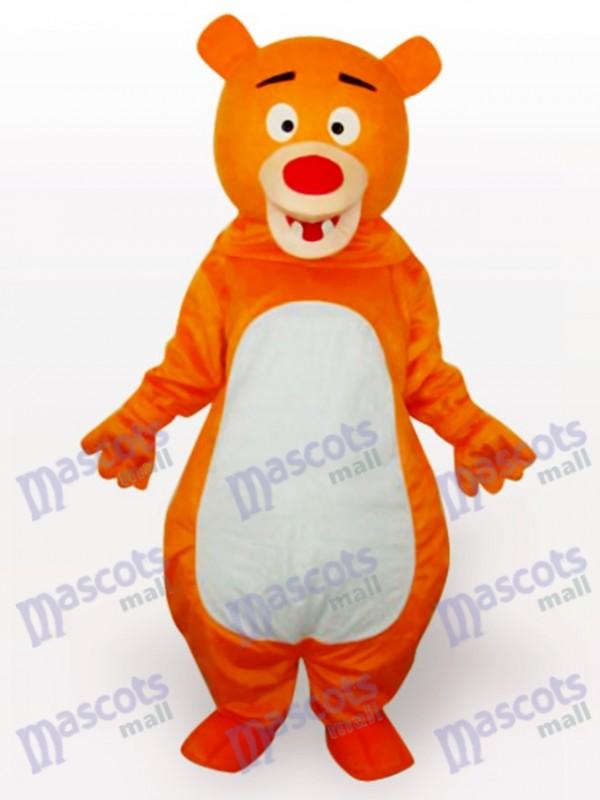 Costume drôle mascotte anime jaune ours