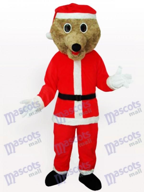 Ours gris dans Costume de mascotte adulte costume Santa