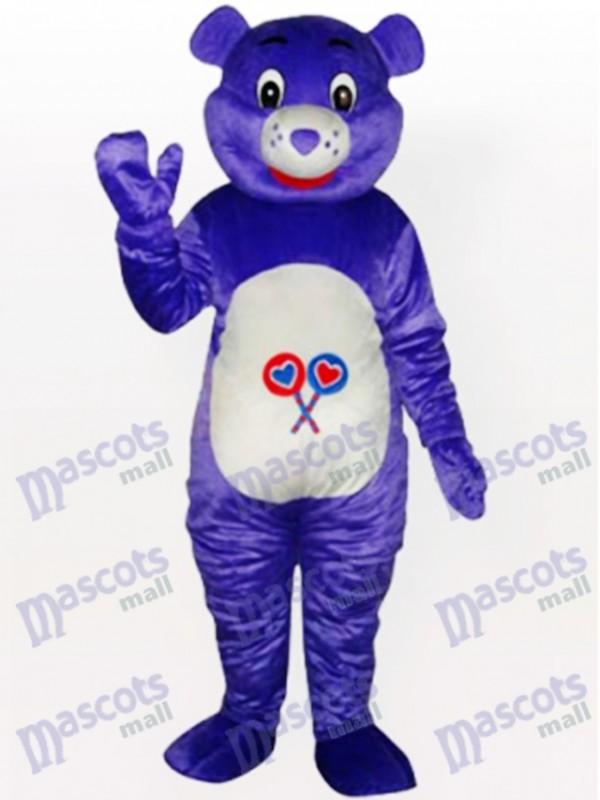 Costume de mascotte d'animal pourpre d'ours
