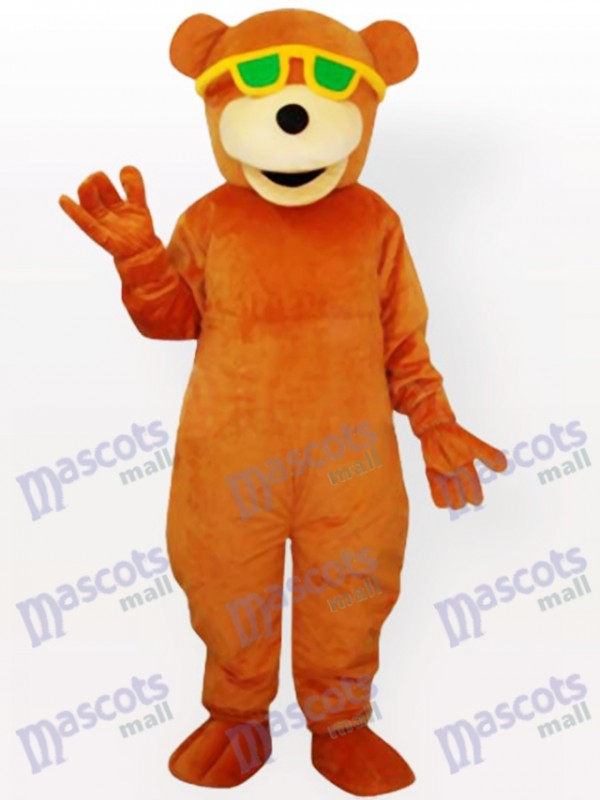 Lunettes portant le costume de mascotte adulte d'ours