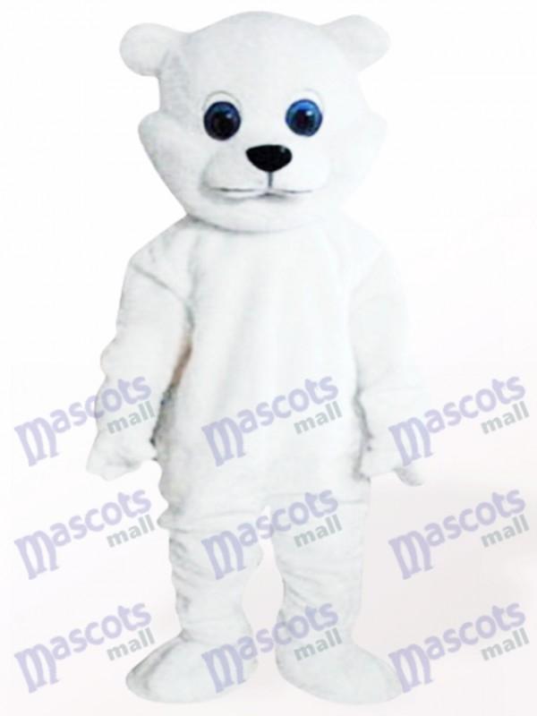 Costume de mascotte adulte petit ours blanc