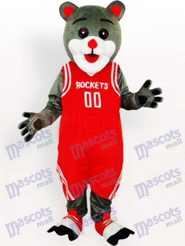 Déguisement drôle de mascotte d'ours de Rockets de Houston