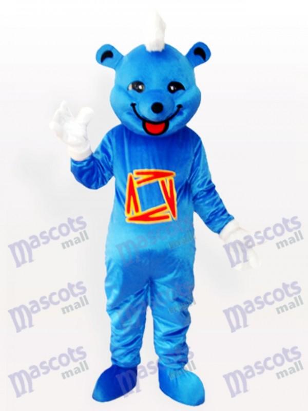 Déguisement mascotte animal ours bleu