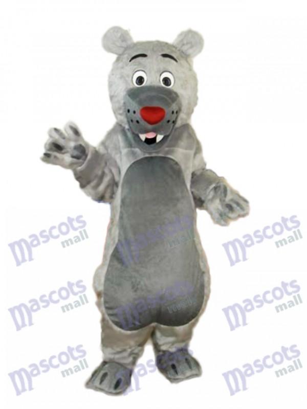 Déguisement Mascotte Ours Mâle Gris Costume Animal