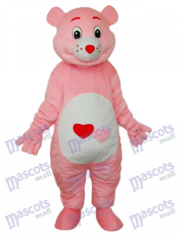 Ours à la mascotte rouge coeur Costume adulte Animal