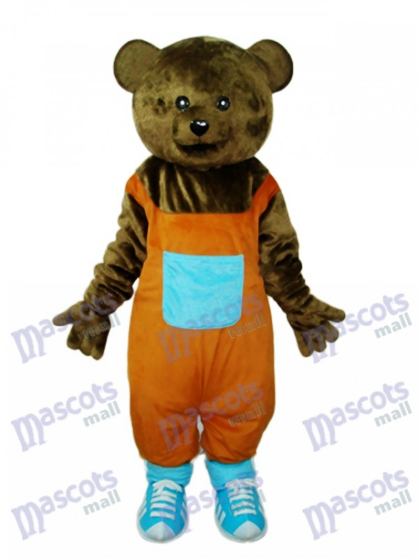 Mascotte ours en peluche Costume adulte Animal