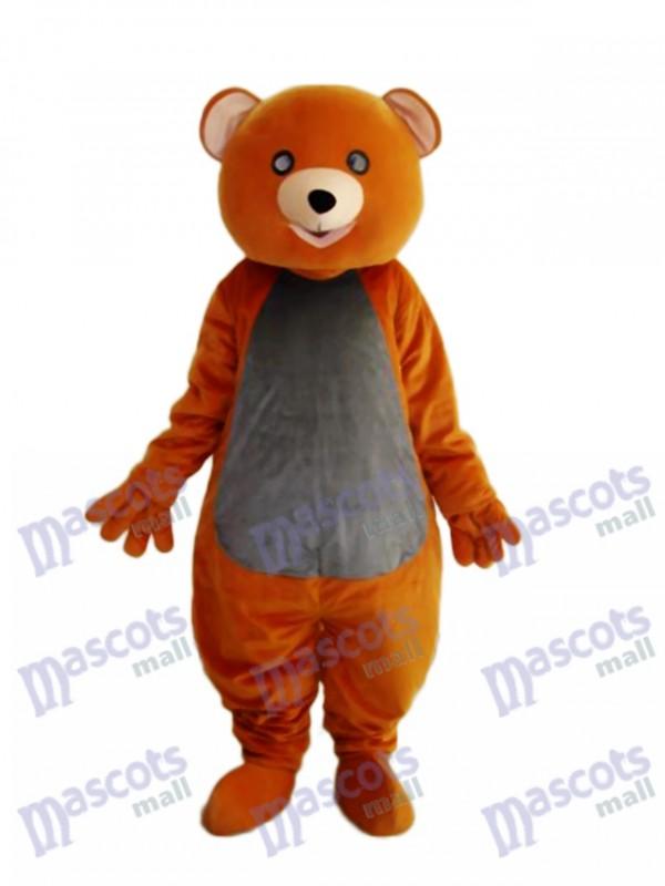 Costume adulte mascotte ours en peluche marron