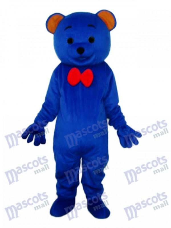 Déguisement de mascotte ours en peluche bleu Animal