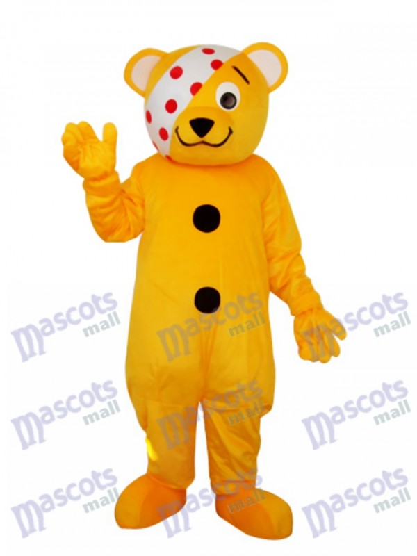 Ours avec Eye Patch Mascotte Costume adulte Animal