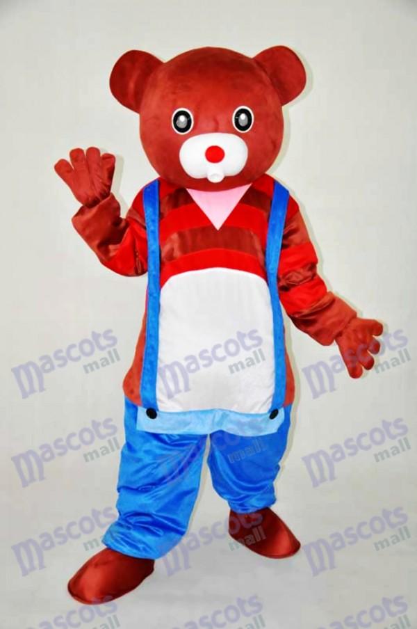 Déguisement de mascotte ours en peluche ours brun animal