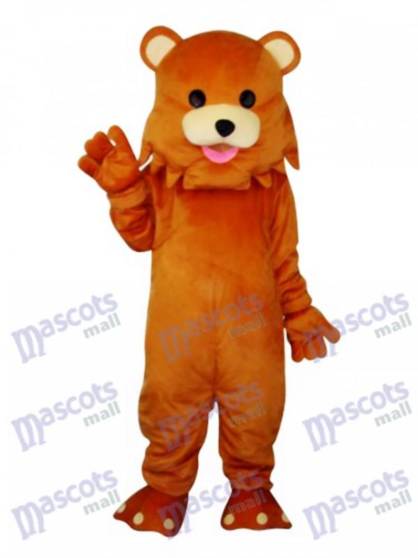 Ours avec mascotte étrange bouche Costume adulte Animal