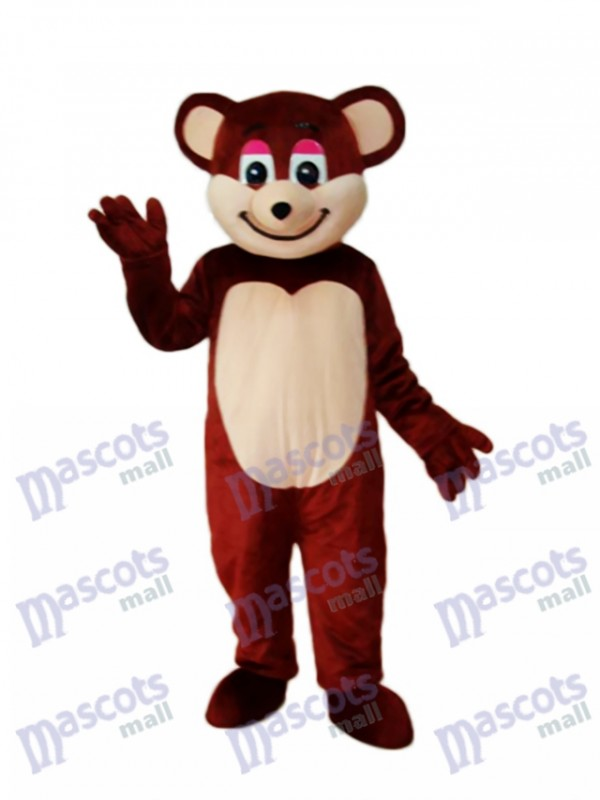 Costume adulte mascotte ours brun
