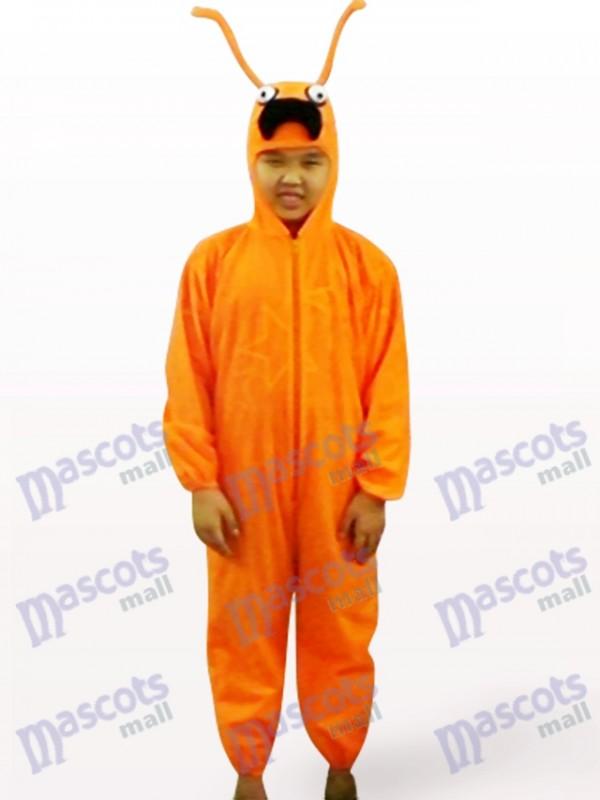 Costume de mascotte d'insecte d'orange de visage de fourmi d'orange