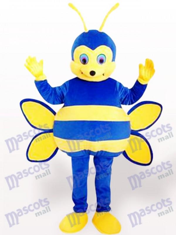 Costume de mascotte insecte bleu abeille