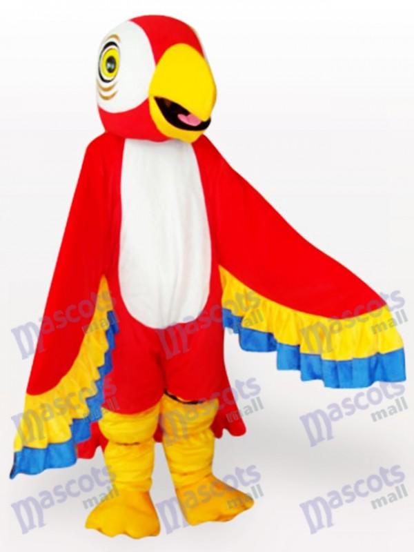 Costume de mascotte d'oiseau perroquet rouge