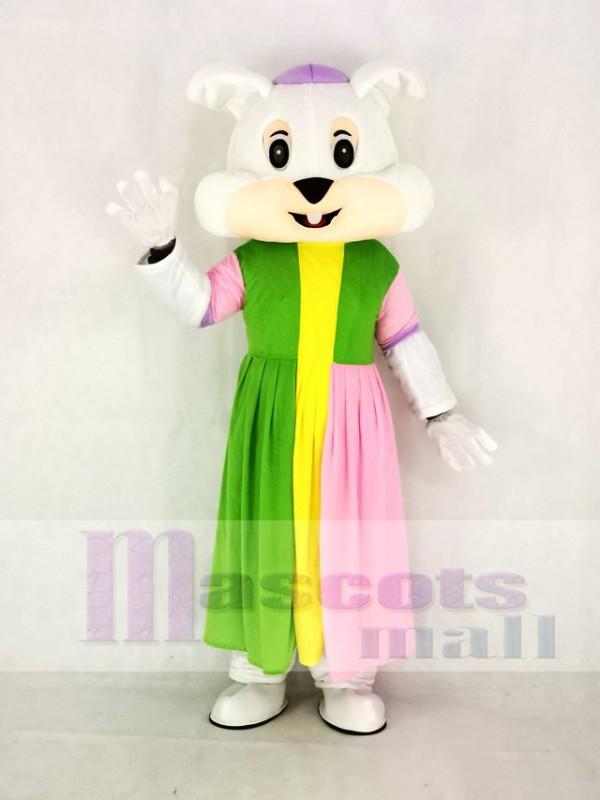 Réaliste Pâques lapin dans Coloré Robe Mascotte Costume Dessin anim