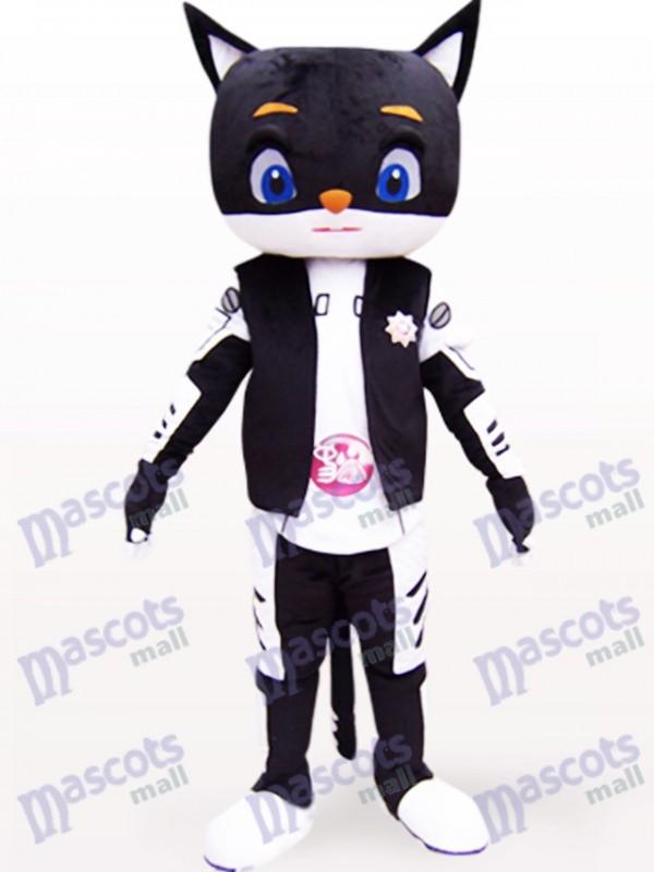 Monsieur Animal chat noir Costume de mascotte adulte