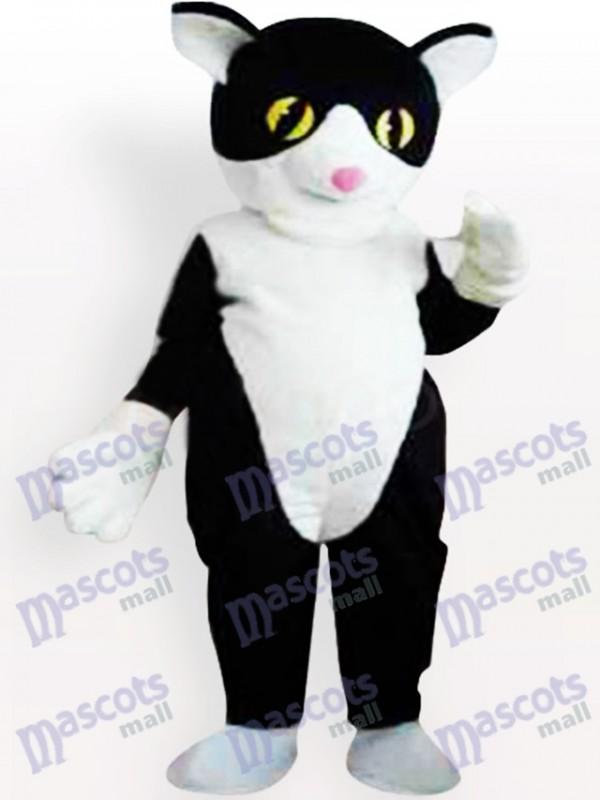Costume de mascotte chat noir et blanc