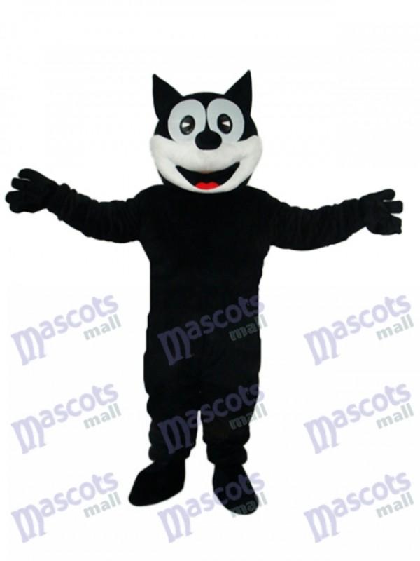 Mascotte de chat heureux Costume adulte Animal