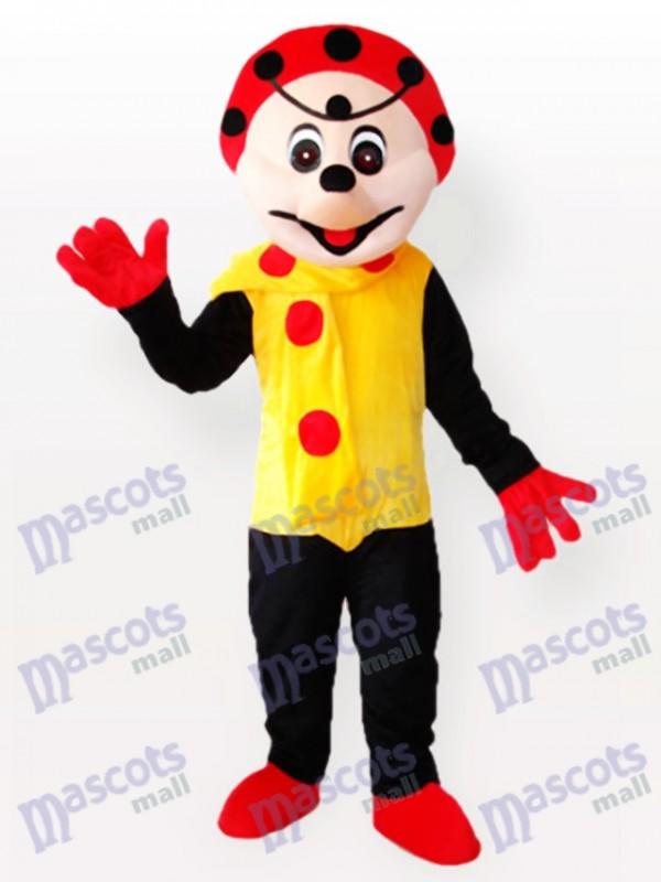 Clown Spotty en costume de mascotte robe jaune