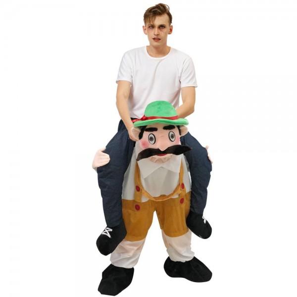 Bavarois Oktoberfest Bière Homme Porter moi Balade sur Halloween Noël Costume pour Adulte/enfant