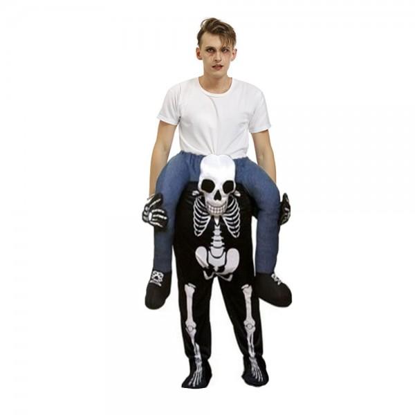 Fantôme Squelette Porter moi Balade sur Halloween Noël Costume pour Adulte