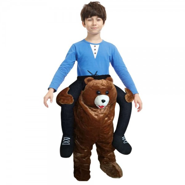 marron Teddy Ours Porter moi Balade sur Fantaisie Robe Costume pour Enfant