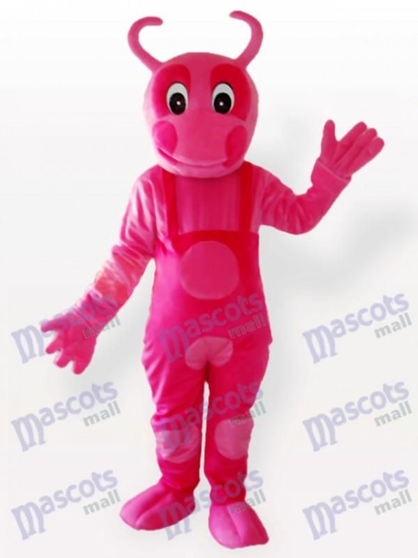 Costume de mascotte adulte rose parti unique