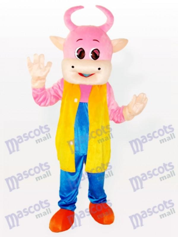 Adorable costume de mascotte de vache Pinky
