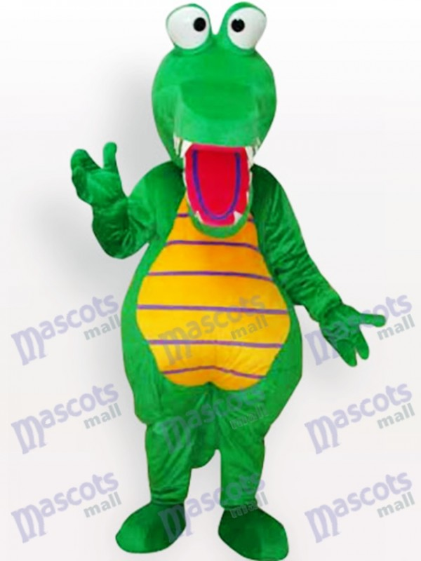 Costume de mascotte adulte animal crocodile vert